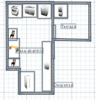 Aprovechar cocina peque a decora mi casa for Planos para una cocina pequena