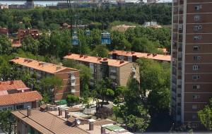 Vista de Madrid desde el teleférico.