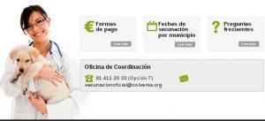 Colegio de veterinarios comunidad de madrid. Campaña de vacunación rabia.